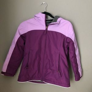 Purple Girls Lands End Heavy Winter Coat size S